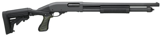 Remington 870 Tactical Shotgun 81404, 12 Gauge, 18 in, 3 in Chmbr, Black Knoxx Syn Stock, Black Finish
